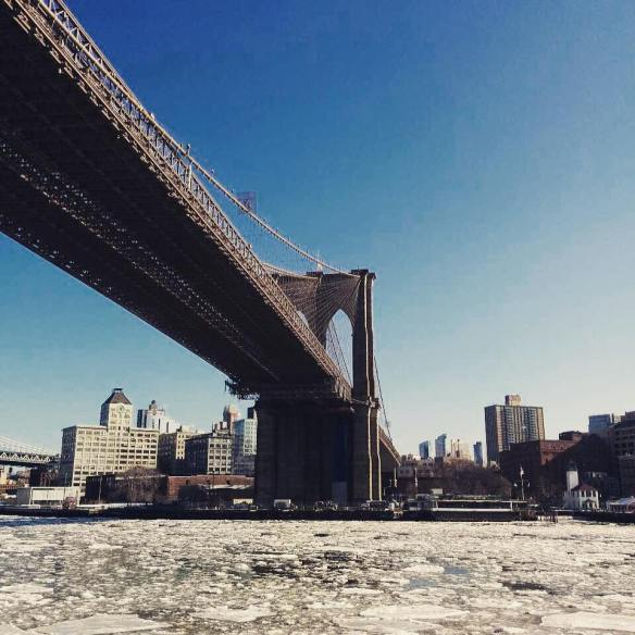 East River frozen